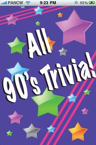Screenshot All 90's Trivia